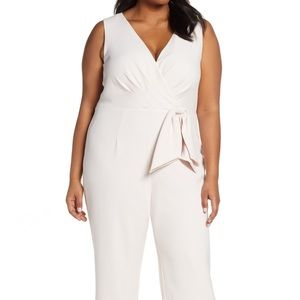 Eliza J Plus Size Blush Faux Wrap Jumpsuit NWT